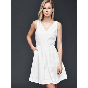 NWOT GAP White Linen Dress size 0